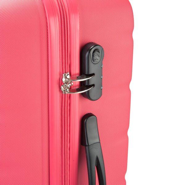 Grenada roze koffer slot detail