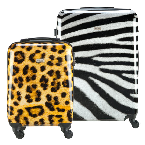 Safari koffer met dierenprint