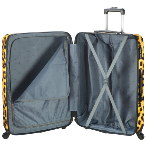 Safari panter koffer binnenkant