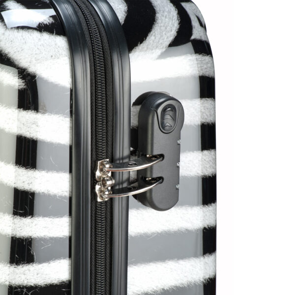 Safari trolley zebra print close-up